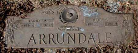 ARRUNDALE, HARRY M. - Yankton County, South Dakota | HARRY M. ARRUNDALE - South Dakota Gravestone Photos