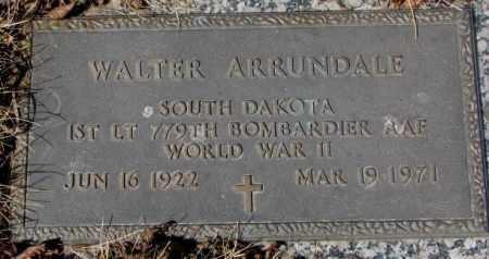 ARRUNDALE, WALTER - Yankton County, South Dakota | WALTER ARRUNDALE - South Dakota Gravestone Photos
