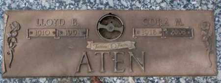 ATEN, CORA M. - Yankton County, South Dakota | CORA M. ATEN - South Dakota Gravestone Photos