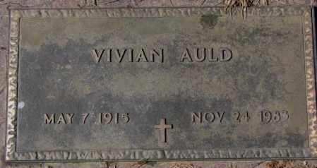 AULD, VIVIAN - Yankton County, South Dakota   VIVIAN AULD - South Dakota Gravestone Photos