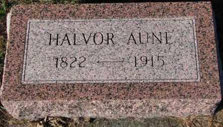 AUNE, HALVOR - Yankton County, South Dakota   HALVOR AUNE - South Dakota Gravestone Photos