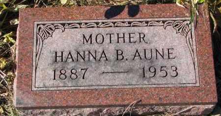 AUNE, HANNA B. - Yankton County, South Dakota | HANNA B. AUNE - South Dakota Gravestone Photos