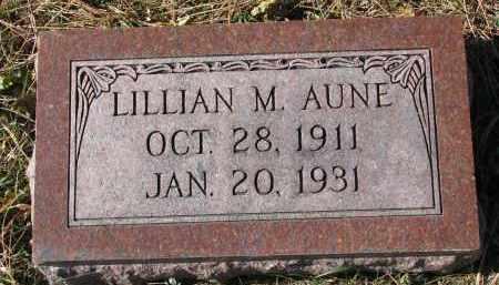 AUNE, LILLIAN M. - Yankton County, South Dakota | LILLIAN M. AUNE - South Dakota Gravestone Photos