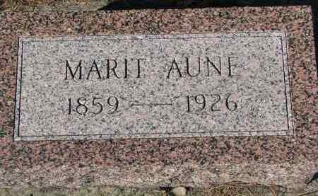 AUNE, MARIT - Yankton County, South Dakota | MARIT AUNE - South Dakota Gravestone Photos
