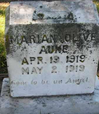 AUNE, MARIAN OLIVE - Yankton County, South Dakota   MARIAN OLIVE AUNE - South Dakota Gravestone Photos