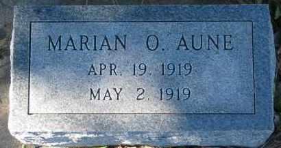 AUNE, MARIAN O. - Yankton County, South Dakota   MARIAN O. AUNE - South Dakota Gravestone Photos