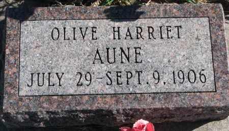 AUNE, OLIVE HARRIET - Yankton County, South Dakota | OLIVE HARRIET AUNE - South Dakota Gravestone Photos