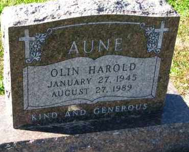AUNE, OLIN HAROLD - Yankton County, South Dakota | OLIN HAROLD AUNE - South Dakota Gravestone Photos
