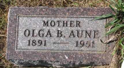 AUNE, OLGA B. - Yankton County, South Dakota   OLGA B. AUNE - South Dakota Gravestone Photos