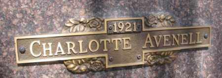 AVENELL, CHARLOTTE - Yankton County, South Dakota | CHARLOTTE AVENELL - South Dakota Gravestone Photos