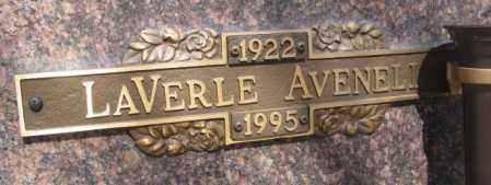 AVENELL, LAVERLE - Yankton County, South Dakota | LAVERLE AVENELL - South Dakota Gravestone Photos