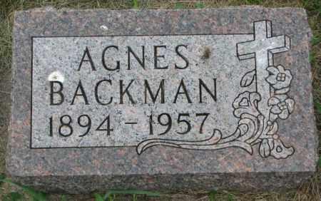 BACKMAN, AGNES - Yankton County, South Dakota | AGNES BACKMAN - South Dakota Gravestone Photos