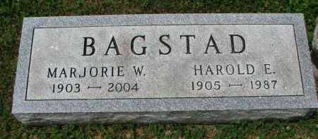 BAGSTAD, HAROLD E. - Yankton County, South Dakota | HAROLD E. BAGSTAD - South Dakota Gravestone Photos