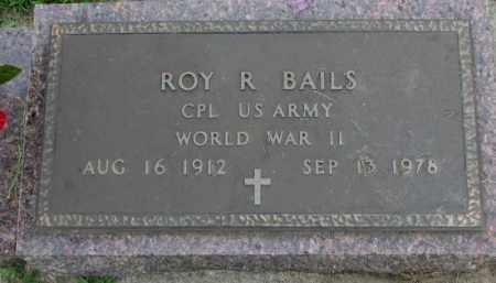BAILS, ROY R. (WW II) - Yankton County, South Dakota | ROY R. (WW II) BAILS - South Dakota Gravestone Photos
