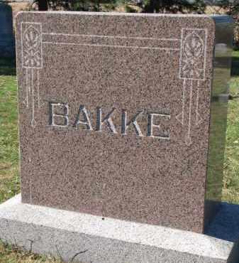 BAKKE, FAMILY STONE - Yankton County, South Dakota | FAMILY STONE BAKKE - South Dakota Gravestone Photos