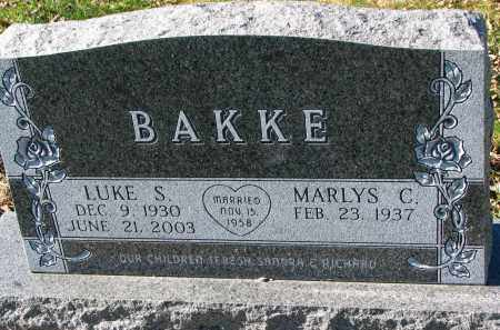 BAKKE, LUKE S. - Yankton County, South Dakota | LUKE S. BAKKE - South Dakota Gravestone Photos