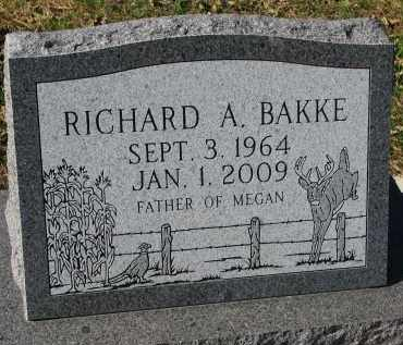 BAKKE, RICHARD A. - Yankton County, South Dakota | RICHARD A. BAKKE - South Dakota Gravestone Photos