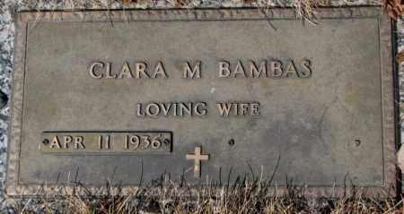 BAMBAS, CLARA M. - Yankton County, South Dakota | CLARA M. BAMBAS - South Dakota Gravestone Photos