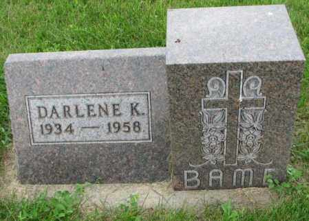 BAME, DARLENE K. - Yankton County, South Dakota   DARLENE K. BAME - South Dakota Gravestone Photos