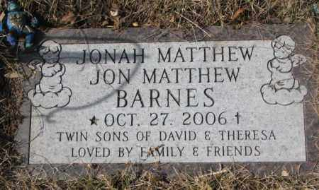 BARNES, JON MATTHEW - Yankton County, South Dakota | JON MATTHEW BARNES - South Dakota Gravestone Photos