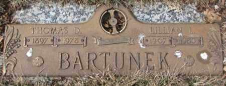 BARTUNEK, THOMAS D. - Yankton County, South Dakota | THOMAS D. BARTUNEK - South Dakota Gravestone Photos