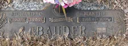 BAUDER, MARTHA - Yankton County, South Dakota   MARTHA BAUDER - South Dakota Gravestone Photos