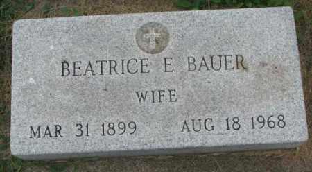 BAUER, BEATRICE E. - Yankton County, South Dakota | BEATRICE E. BAUER - South Dakota Gravestone Photos
