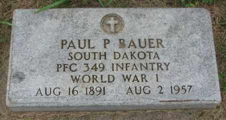 BAUER, PAUL P. - Yankton County, South Dakota | PAUL P. BAUER - South Dakota Gravestone Photos