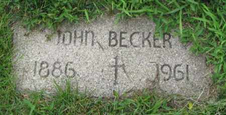 BECKER, JOHN - Yankton County, South Dakota | JOHN BECKER - South Dakota Gravestone Photos