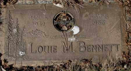 BENNETT, LOUIE M. - Yankton County, South Dakota   LOUIE M. BENNETT - South Dakota Gravestone Photos