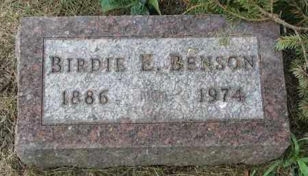 BENSON, BIRDIE E. - Yankton County, South Dakota | BIRDIE E. BENSON - South Dakota Gravestone Photos