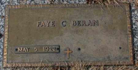 BERAN, FAYE C. - Yankton County, South Dakota | FAYE C. BERAN - South Dakota Gravestone Photos