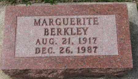 BERKLEY, MARGUERITE - Yankton County, South Dakota   MARGUERITE BERKLEY - South Dakota Gravestone Photos