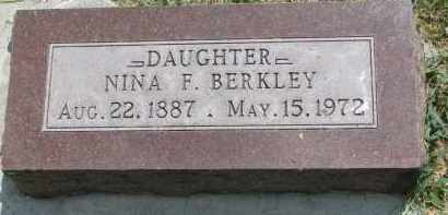 BERKLEY, NINA F. - Yankton County, South Dakota   NINA F. BERKLEY - South Dakota Gravestone Photos