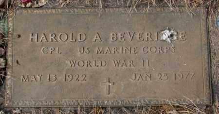 BEVERIDGE, HAROLD A. - Yankton County, South Dakota | HAROLD A. BEVERIDGE - South Dakota Gravestone Photos