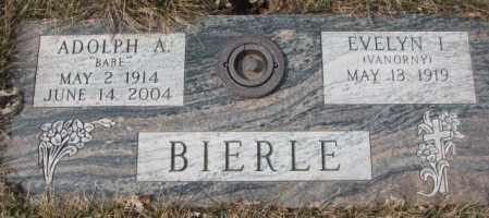 "BIERLE, ADOLPH A. ""BABE"" - Yankton County, South Dakota | ADOLPH A. ""BABE"" BIERLE - South Dakota Gravestone Photos"