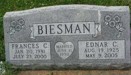 BIESMAN, EDNAR C. - Yankton County, South Dakota   EDNAR C. BIESMAN - South Dakota Gravestone Photos