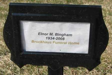 BINGHAM, ELNOR M. - Yankton County, South Dakota | ELNOR M. BINGHAM - South Dakota Gravestone Photos