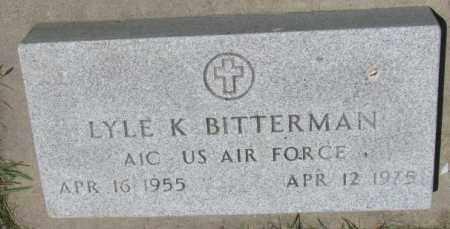 BITTERMAN, LYLE K. - Yankton County, South Dakota | LYLE K. BITTERMAN - South Dakota Gravestone Photos