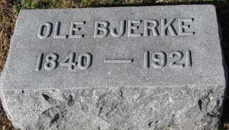 BJERKE, OLE - Yankton County, South Dakota | OLE BJERKE - South Dakota Gravestone Photos
