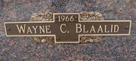 BLAALID, WAYNE C. - Yankton County, South Dakota | WAYNE C. BLAALID - South Dakota Gravestone Photos
