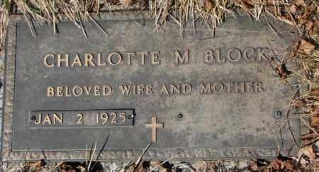 BLOCK, CHARLOTTE M. - Yankton County, South Dakota | CHARLOTTE M. BLOCK - South Dakota Gravestone Photos