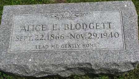 BLODGETT, ALICE E. - Yankton County, South Dakota | ALICE E. BLODGETT - South Dakota Gravestone Photos