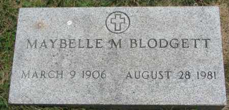 BLODGETT, MAYBELLE M. - Yankton County, South Dakota | MAYBELLE M. BLODGETT - South Dakota Gravestone Photos