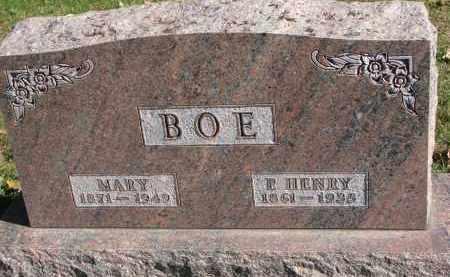BOE, MARY - Yankton County, South Dakota   MARY BOE - South Dakota Gravestone Photos