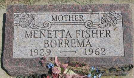 FISHER BOEREMA, MENETTA - Yankton County, South Dakota | MENETTA FISHER BOEREMA - South Dakota Gravestone Photos