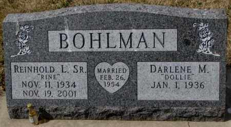 "BOHLMAN, REINHOLD L. SR.""RINE"" - Yankton County, South Dakota | REINHOLD L. SR.""RINE"" BOHLMAN - South Dakota Gravestone Photos"