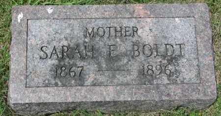 BOLDT, SARAH E. - Yankton County, South Dakota | SARAH E. BOLDT - South Dakota Gravestone Photos