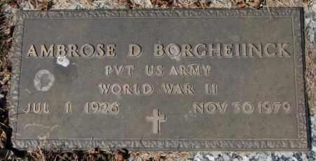 BORGHEIINCK, AMBROSE D. - Yankton County, South Dakota | AMBROSE D. BORGHEIINCK - South Dakota Gravestone Photos