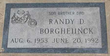 BORGHEIINCK, RANDY D. - Yankton County, South Dakota   RANDY D. BORGHEIINCK - South Dakota Gravestone Photos